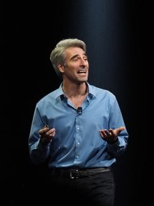 Apple's Craig Federighi speaking at WWDC 2014 - Photo Credit: Andy Ihnatko